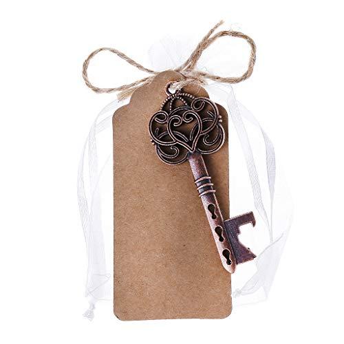 Jiay Tragbare Legierung Schlüssel in Form eines Bierskeletts, Weinflasche, Öffnet die Party, Hochzeit, als Geschenk, Werkzeug, Schlüsselanhänger mit Deko, Karte, Zinklegierung, 4