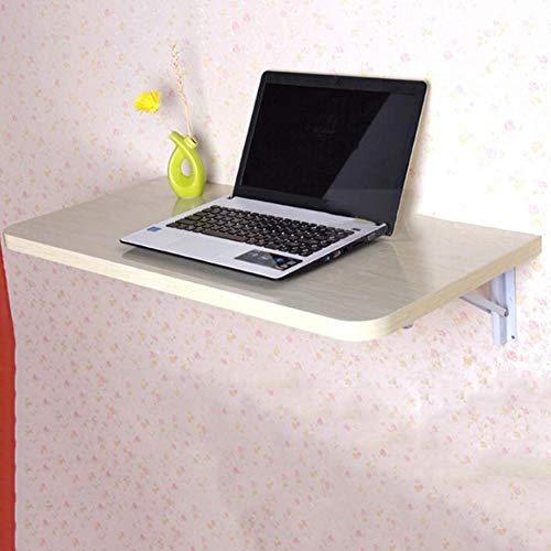 KTYXGKL Faltbarer Wandtisch Tragbarer Drop-Leaf-Laptop-Schreibtisch - Holzpaneele, 4 Farben, 3 Größen Klapptisch (Color : C, Size : 60x35CM)