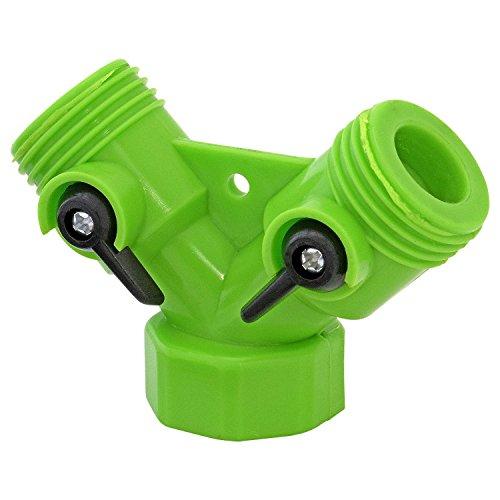 Parkland 2 voies double adaptateur de robinet de jardin extérieur & Connecteurs de tuyaux 3/10,2 cm arrosage Floraison jardinage multi-usages