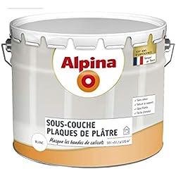 Alpina 839633 sous-Couche spéciale pour plaques de plâtre-Mat Blanc 10L 80m