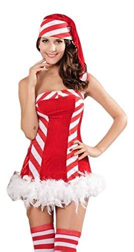 Weihnachtsmann Süßigkeiten Weihnachtskostüm Outfit UK 8-12 ()