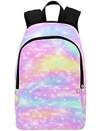Vector Illustration Galaxy Fantasy Pastel Mochila Casual Bolsa de Viaje Mochila Escolar para Hombres y Mujeres