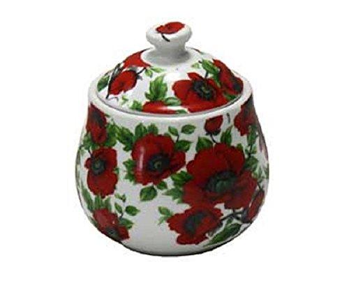 INTEROS Zuckerdose Keramik Mohnblume von GELA24