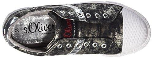 s.Oliver 54104, Scarpe da Ginnastica Basse Bambino Multicolore (BLACK/SILVER 41)