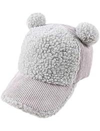 Namgiy dei Bambini del Cappello da Baseball Ragazzi Ragazze Autunno Inverno  52 cm Grigio Grey 52 5a3c7f662497