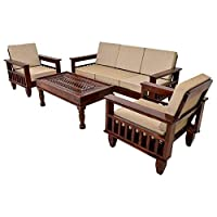 MH Decoart Brings To You Modern And Comfortable Sofa Set For Your Living Room. 5 Seater Sofa Set 3+1+1 Is Made Of Sheesham wood. It Has An Elegant Design Which Enhances The Interior Decor Of Your Living Room. Designed In Such A Way, The Sofa Is Comfo...