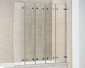 pare baignoire arrondi 5 volets rabattables sans cadre cuisine maison. Black Bedroom Furniture Sets. Home Design Ideas