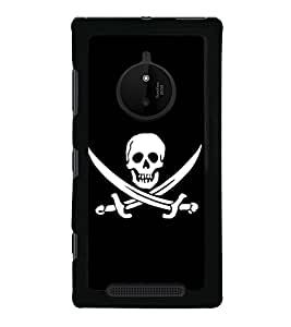 Skull with Sword 2D Hard Polycarbonate Designer Back Case Cover for Nokia Lumia 830 :: Nokia Lumia 830 RM-984