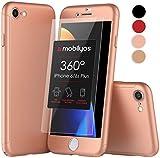 Funda iPhone 6s PLUS 360 Grados Completa - Carcasa Integral con X2 Protector de Pantalla de Vidrio Templado para iPhone 6 / 6s PLUS - Funda Delantera y Trasera con Cristal Templado (Oro Rosa)