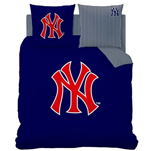 New York Yankees-Parure da letto con copripiumino 200 x 200 cm, motivo: New York