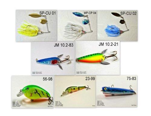 Akuna [NC vor-'Pick EMPFEHLUNG Kollektion von Köder für Bass, Zubereitung der Fische, Forelle, Hecht und Glasaugenbarsch Angeln in North Carolina (Bass 8-a) (Nc-pick)