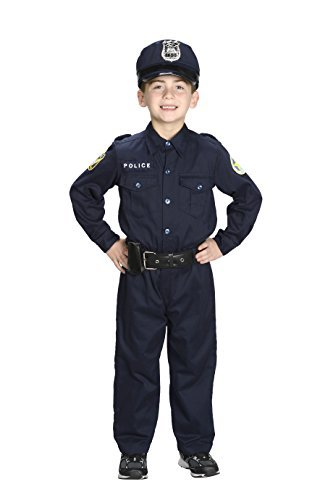Aeromax Jr. Police Officer Suit, Size 2/3 with police cap,badge, and belt to look and feel like the real deal. by Aeromax Police Officer Cap