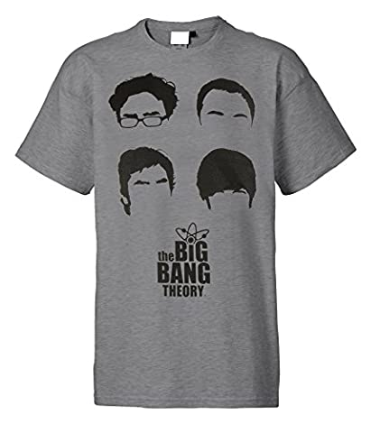 "Big Bang Theory T-Shirt ""The BBT´s Heads"" grau [XL]"