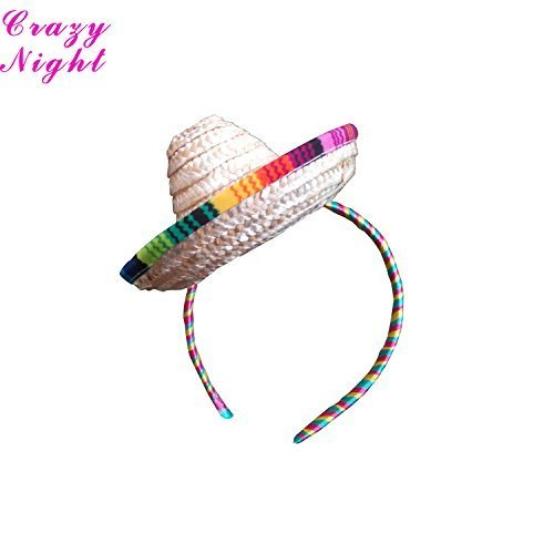 Crazy Night Mini Sombrero Top Hat Headband Fiesta Party Supplies by Crazy Night