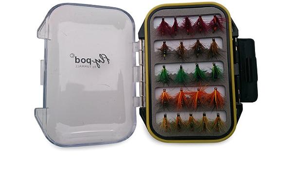 22-teilig Farbe Schwarz Turrall Fly-Pod Snatcher-Fliegen-Set