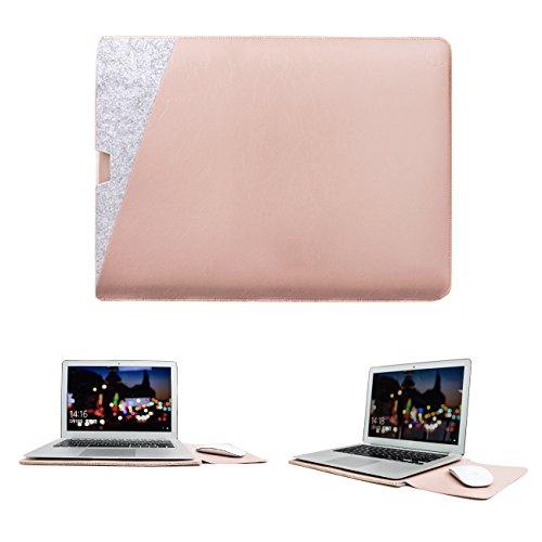 WALNEW MacBook Air 11 Zoll, MacBook 12, Schutzhülle, Hülle, Case, Cover, mit Zwei-Taschen-Design mit Geschütztem Inneren und Externem Mousepad