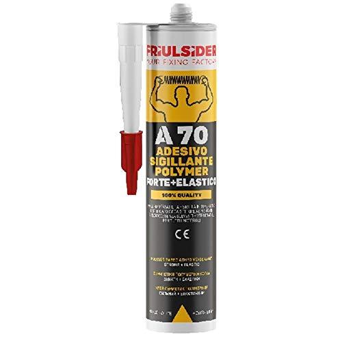 Colla silicone a70 adesivo sigillante professionale polimeri forte e elastico sigilla in immersione friulsider ml.290