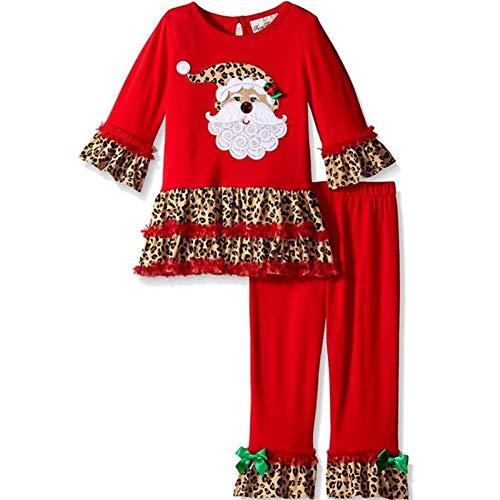 GSDZN - Kinder Weihnachtsmann-Kostüm, Top, Hosen, 90-130cm,100cm (Top 100 Kostüm)