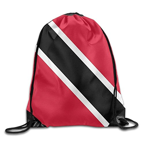 WYICPLO Flag of Trinidad and Tobago Cute Gym Drawstring Bags Travel Backpack Tote School Rucksack -