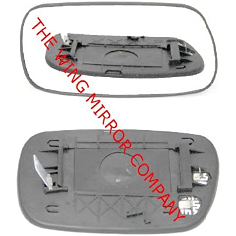 Toyota Corolla 2001,2002,2003,2004,2005,2006,2007climatizada ala, plata/de puerta espejo de cristal incluido base (Izquierdo) (lado del