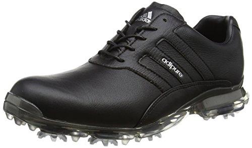 Adidas Adipure Classic - Chaussures De Golf Pour Homme Noir (noyau Noir / Noyau Noir / Argenté Métallisé)