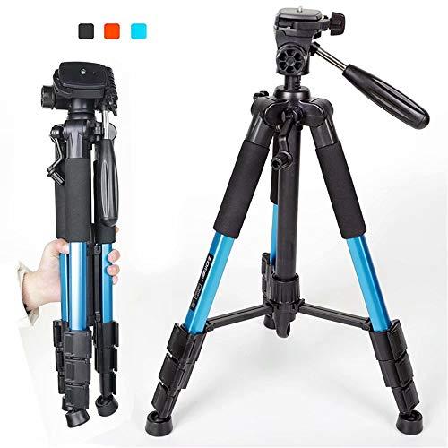 Trípode Compacto para cámara,AZX, Tripode Camara Reflex con Cabezal panorámico de 360 Grados,Plegable Portátil Trípode de cámara SLR Digital Sony Nikon de Canon,Color Azul