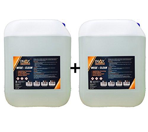 INOX Wege Clean - SteinreinigerKonzentrat, 2x 10L - Gründbelagentferner, Algenentferner für Außen