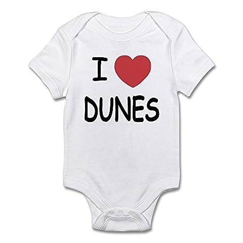 CafePress - I Heart Dunes - Cute Infant Bodysuit Baby