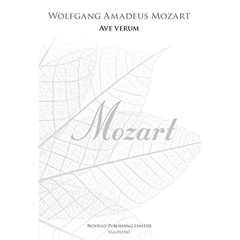W.A. Mozart: Ave Verum - SSA (New Engraving). Sheet Music