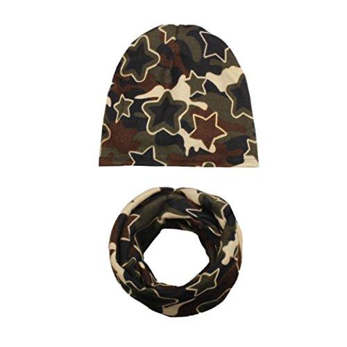 Hüte & Mützen Baby Longra Baby Mädchen Jungen Herbst Winter Hat Cap Kleinkind Kinder Hüte Schal Halsbänder(0-6Jahre) (L) (Modische Wolle Solid)