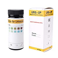 BIlinli 100Pcs Urine Test Strip Glucose Protein Anti-VC Reagent Strips Urinalysis Tester