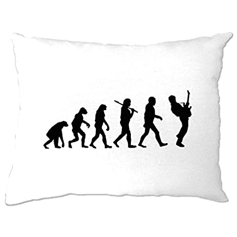Evolution of a Guitarist Music Rock Guitar Musician Band Metal Rockstar Acoustic Electric Aplifier Flamenco Vocal Cool Pillow Case Bedroom Cool Birthday Gift Present
