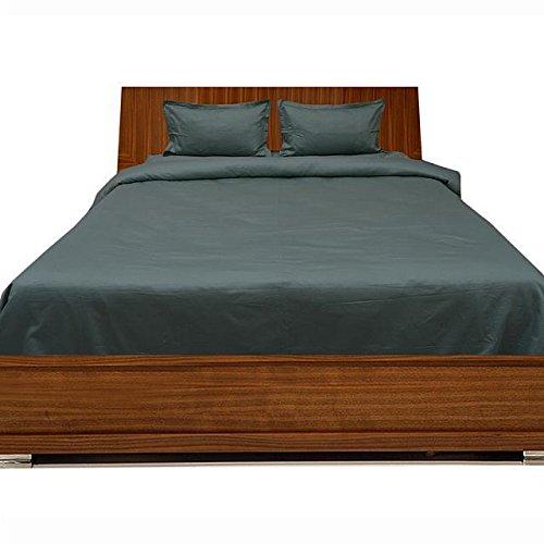 Luxuriöse Ägyptische Baumwolle mit Fadendichte 300 4pc Plansatz-&, 3-teiliges Set mit Bettdecke, Rock klein dunkelgrau, 300TC, 100% Baumwolle - 300tc-duvet-set