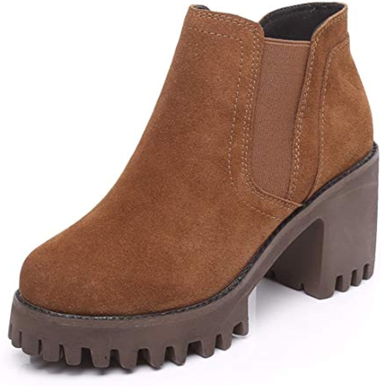 BeatinToes Mesdames Hiver Chaud Anti-Patinage Imperméable Bottes en Color Cuir Naturel Martin Pure Color en Casual Chaussures...B07K1NBZXRParent f0e100