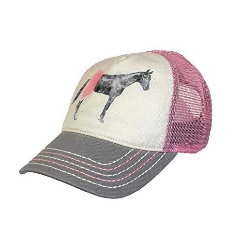 John Deere Toddler/Infant Tutu Horse Cap-Dusty Rose-Os