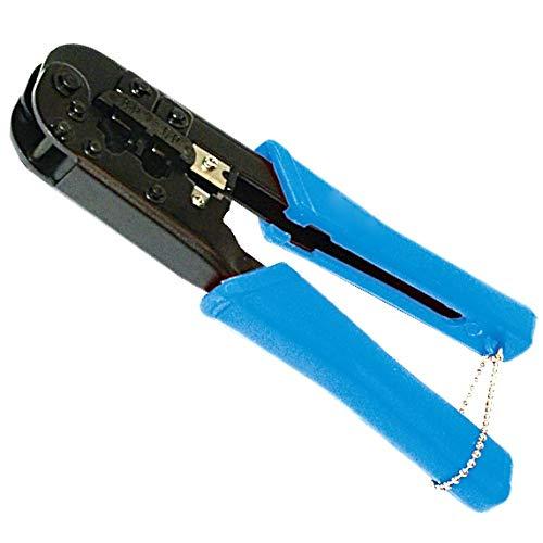 odedo Crimpzange RJ45 RJ12 & 11 Modulare Steckverbinder Crimp Stecker 8P8C 6P6C 6P4C für CAT 6 6A 7 Stecker mit Kabelschneider Abisolierer Netzwerkzange Crimping Tool with cutter