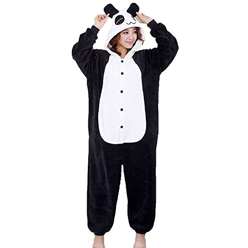 (m/ altezza 161-170cm) costume anime cosplay pigiama animale unisex adulti halloween festa sleepwear tuta intera flanella panda