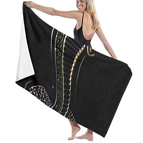 FSTGF Ford-Mustang Cobra Logo Baumwolle Strandtuch Microfaser saugfähig Badetücher schnell trocknend Handtuch Decke für Frauen, Kinder