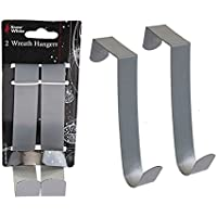 Pack of 2 - 14cm Christmas / Everday Wreath Hangers In Silver