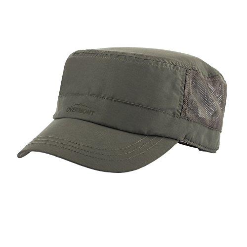Top Hüte (Overmont Einstellbar Atmungsaktiv Schnelltrocknend Sonnenschutz Flache Top Hut Baseballcap Militärmütze für Frauen Männer Camping Reisen Wandern Baseball Outdoor)