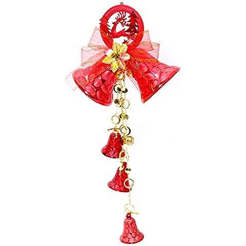 Decorazioni di Natale 60cm archi Christmas Bells Door Hanging Strap regalo del pendente Decorazione albero di Natale