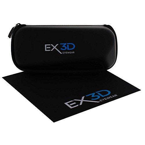 1x Brillenetui für 3D-Brillen/Hardcase/schwarz mit Reisverschluß/für alle 3D-Brillen und andere geeignet/3D Aktive Shutter, passive,Beamer 3D Brillen
