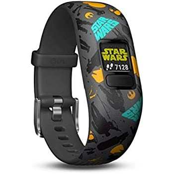 5348671b41f Garmin vivofit Jr. 2 - Star Wars The Resistance Fitness Activity Tracker  for Kids - Adjustable Band - Grey and Yellow