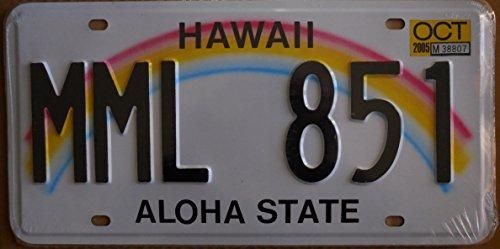 targa-americana-nuova-31x16-cm-riproduzione-hawaii