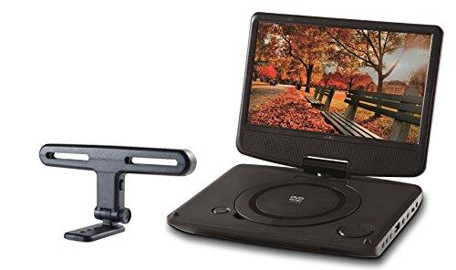 Reflexion DVD9003 KIT tragbarer DVD-Player 9 Zoll (22,86 cm) mit drehbarem Display, stabiler Kopfstützenhalterung, Kopfhörer und 12 Volt Adapter (USB, Anti-Schock, Li-Polymer Akku, spielt auch MPEG4 und DivX)