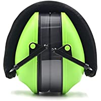 Toennesen Earmuffs 21db NRR Protection Noise Reduction Ear Muff with Adjustable Safety Headband for Travel, Sleeping, Work, Concerts, Drumming, Green