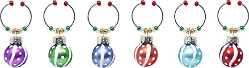 LS Arts Wein Charms (Set von 6), bunt, Ornaments Spaß Wein Charms