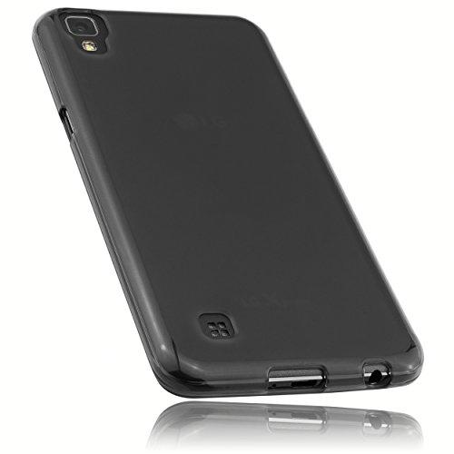 mumbi Schutzhülle für LG X Power Hülle transparent schwarz