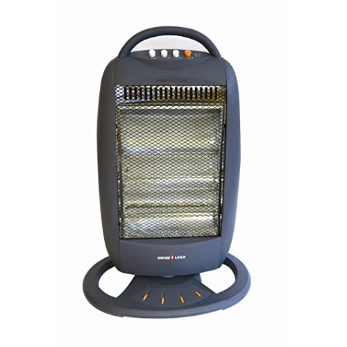 41UkokbXNJL. SS500  - Swiss Lux 3 Bar Electric Oscillating Halogen Heater - Low Wattage 400/800/1200W
