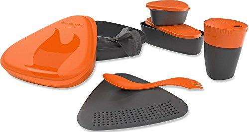 Light My Fire Lot de 8 pièces de vaisselle de camping Orange Orange
